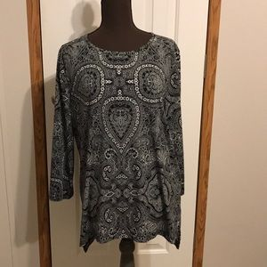 Jones New York Patterned top